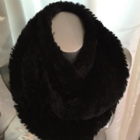 Black Fur Snood PB43
